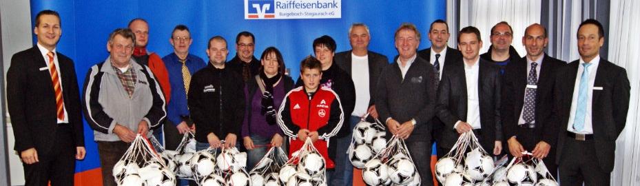 Jugendfußballförderung der Raiffeisenbank Burgebrach-Stegaurach eG