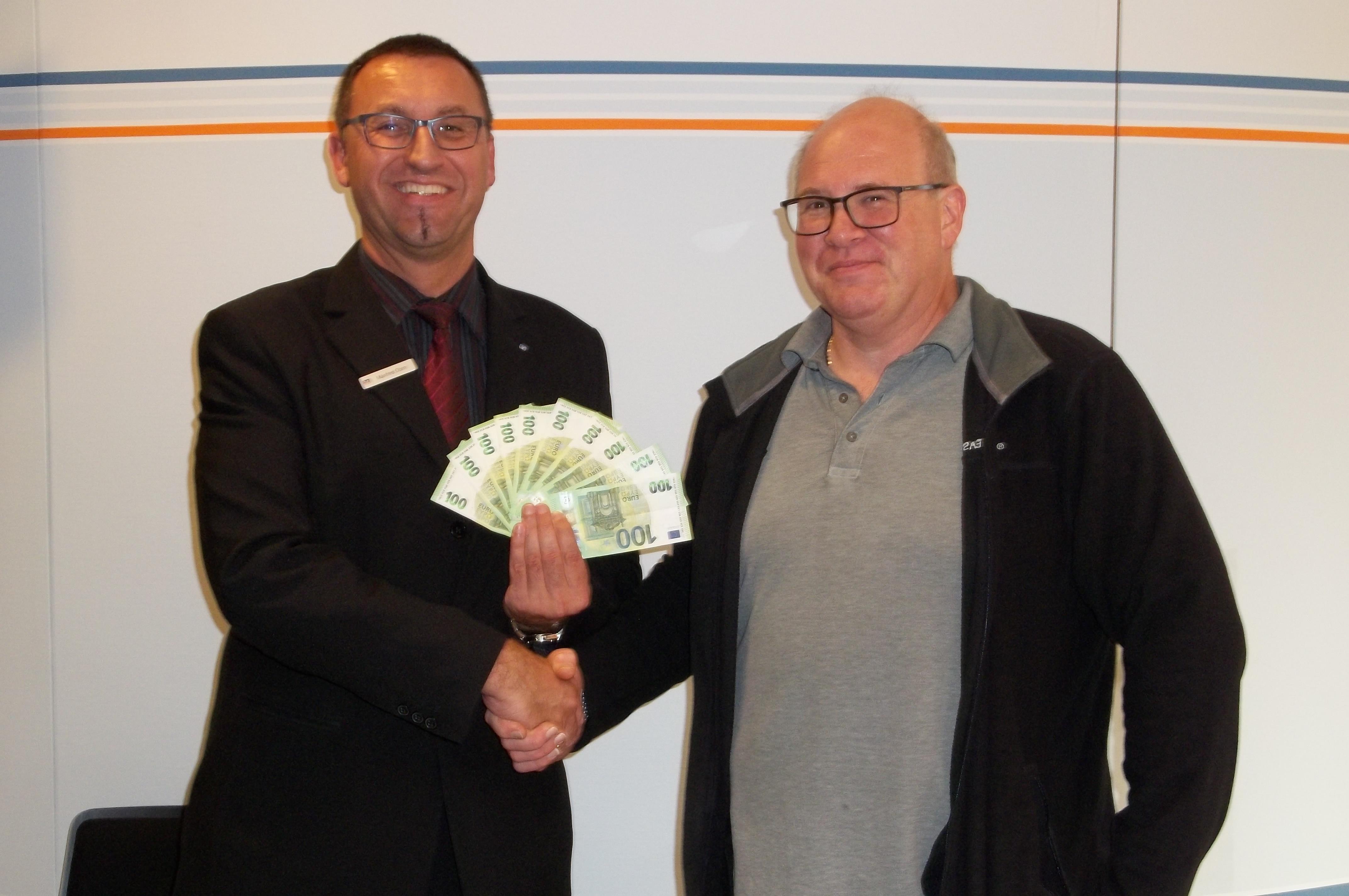 Gewinnsparauslosung Dezember 2014 der Raiffeisenbank Burgebrach-Stegaurach eG